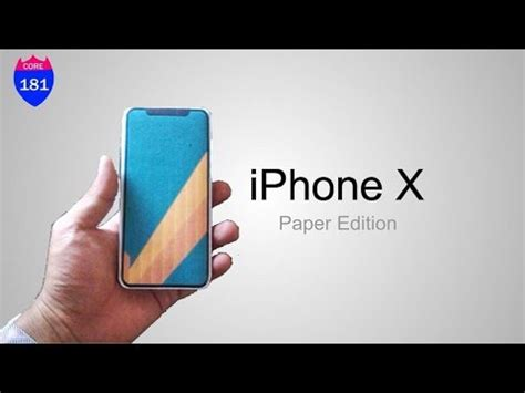 How To Make A Paper Iphone - diy iphone x paper edition paperiphonex