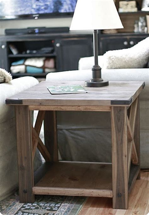 pdf diy barn wood end table plans basic