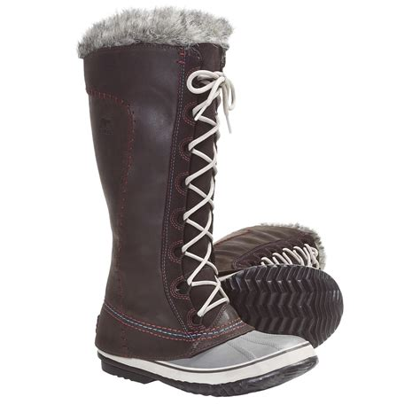 womens knee high waterproof snow boots with image