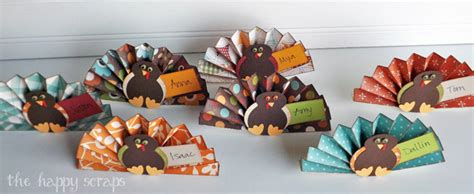 Craft Room Decorations - thanksgiving place cards the happy scraps