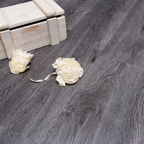 Charcoal effect Wood finish Luxury vinyl click flooring 2