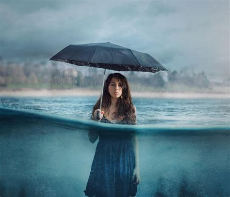 wallpaper hd umbrella girl photography manipulation umbrella girl women rain hd