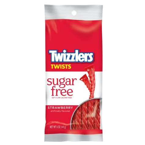 twizzlers sugar free twists strawberry 5 ounce bags