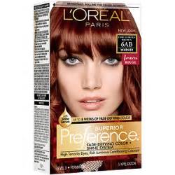 loreal auburn hair color l oreal preference fade defying color shine system