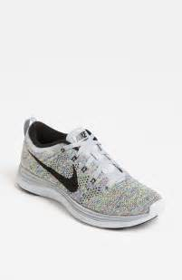 nike shoes nike flyknit lunar1 running shoe in multicolor wolf grey