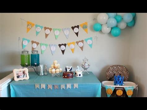 the house decorations for the babies first birthday party baby winston s 1st birthday decorations youtube