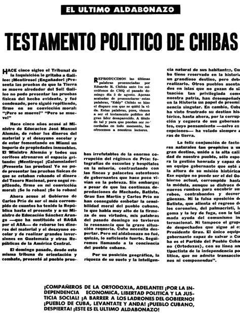 eduardo chibã s the incorrigible of cuban politics books eduardo chib 225 s junglekey image