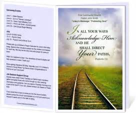 free bulletin template church bulletin templates railroad church bulletin