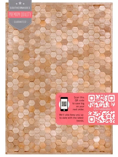 cowhide rugs houston hexagon cowhide rug the hexagonal designed cowhide