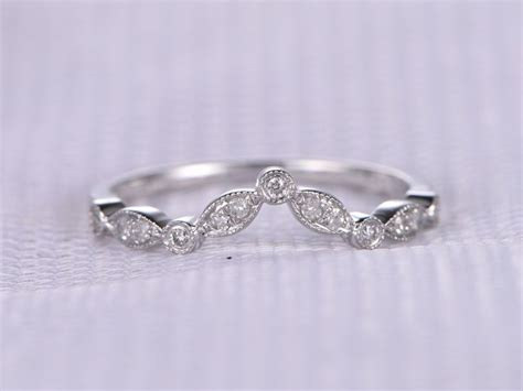 antique wedding bands for him natural diamond wedding ring anniversary ring curved art