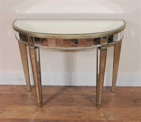 Mirror Console Table Deco Mirrored Console Table Demi Lune Tables