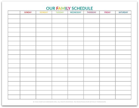 our new back to home school weekly schedule a virtuous woman
