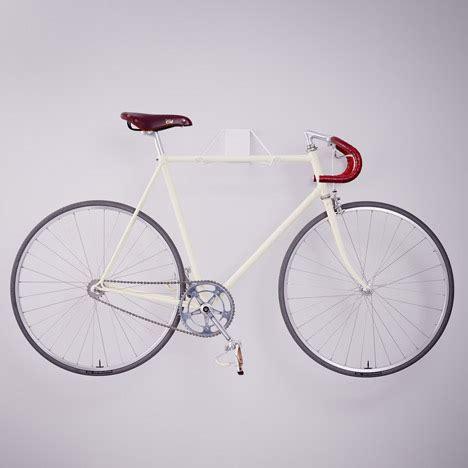 bike wall hanger pinch a simple streamlined wall bike mount showcase gadgets science technology