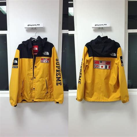 supreme clothes jacket supreme supreme clothing supreme jacket yellow