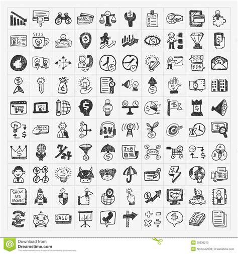 doodle calendar api doodle business icon stock photo image 35936210