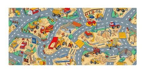construction rug learning carpets construction carpet toys