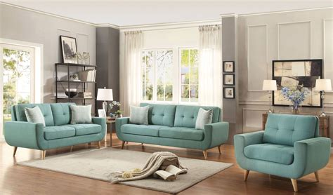 blue living room set deryn blue living room set 8327tl 3 homelegance