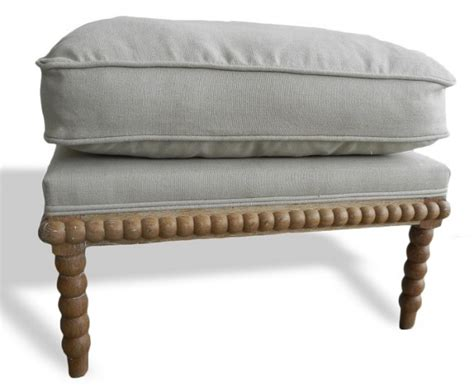 spool ottoman spool chair upholstered down feather pair