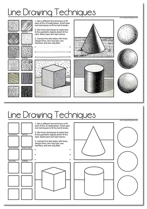 printable art activities for high school students line drawing a guide for art students