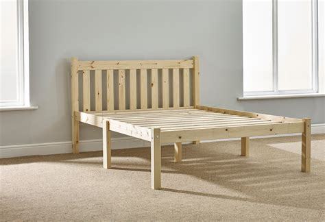 Solid Pine Bed Frame Amelia 4ft 6 Shaker Solid Pine Bed Frame