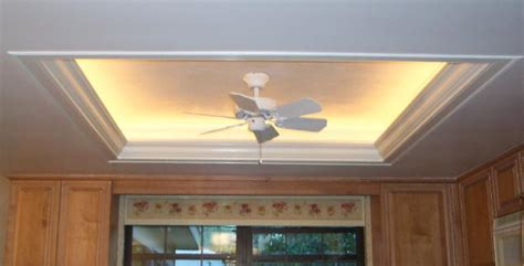 How To Build A Tray Ceiling With Lights Ceiling Lighting Kitchen Tray Ceiling Lighting Ideas Interior Design Tray Ceiling Lighting