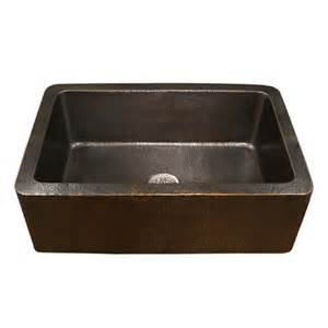 Houzer Kitchen Sinks Shop Houzer Hammerwerks 22 In X 32 In Antique Copper Single Basin Copper Apron Front Farmhouse
