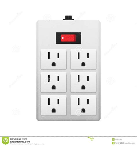 electrical outlet with switch stock illustration image