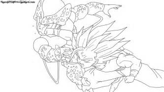 Gohan Vs Cell Coloring Pages Sketch Page sketch template