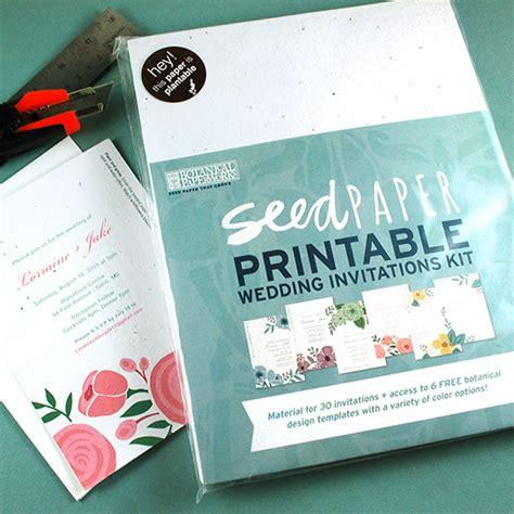 wildflower wedding invitation kits seed paper printable wedding invitations kit plantable
