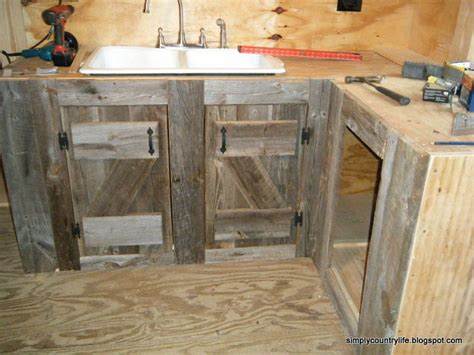 Kitchen Cabinets Made From Barn Wood Kitchen Cabinets Made From Reclaimed Salvaged Barnwood Hometalk