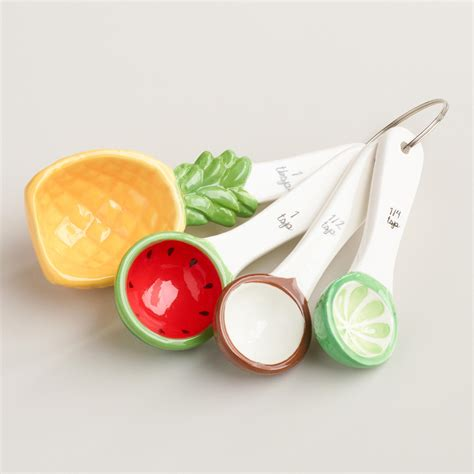 fruit utensils tropical fruit ceramic measuring spoons world market