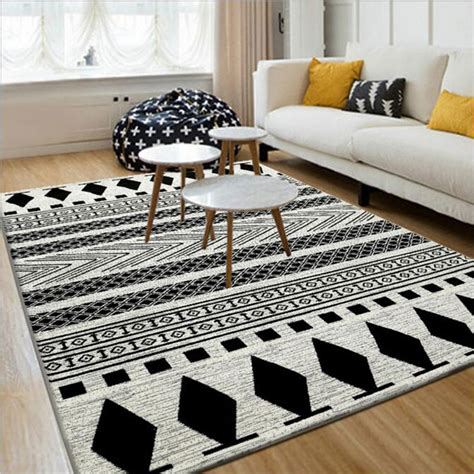 Karpet Ikea black white 130x190cm european modern carpet and floor rugs and carpets modern anti skid carpets