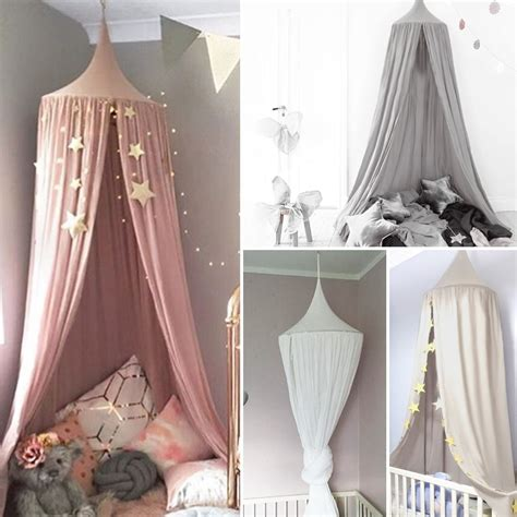 canopy bed sheets kids baby bed canopy bedcover mosquito net curtain bedding dome tent cotton uk ebay