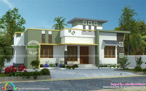 simple model house design june 2016 kerala home design and floor plans