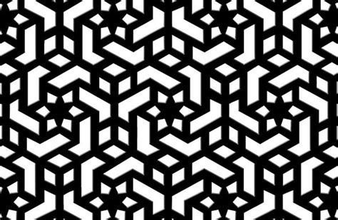 geometric jali pattern black marble pierced screen jali model a