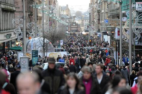 glasgow s christmas shopping habits revealed by survey