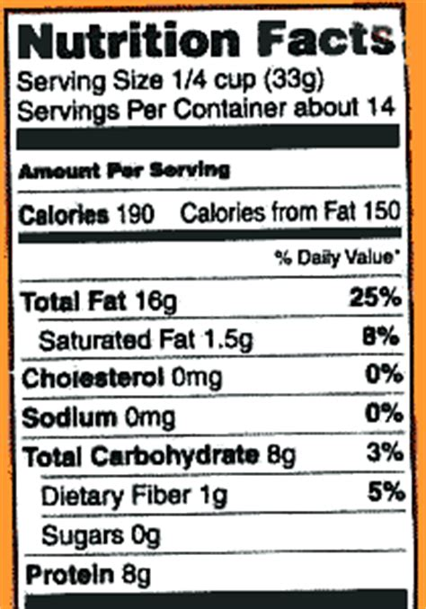 food labels nutrition information and misinformation