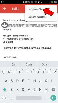buat cv mengirim lamaran lewat email gmail  hp