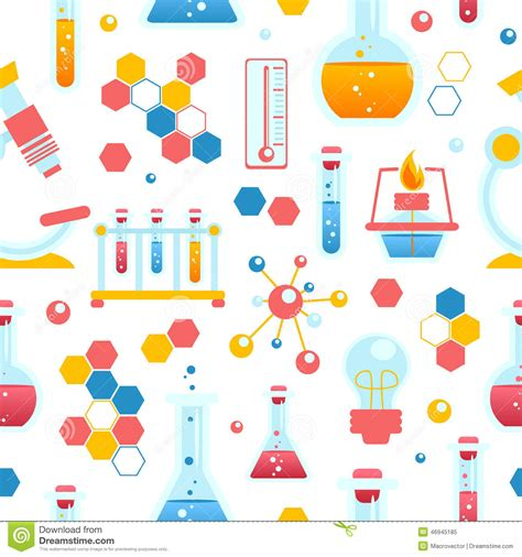 pattern lab less chemistry seamless pattern stock vector illustration of