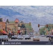 The Town Of Cody Wyoming Stock Photo Royalty Free Image