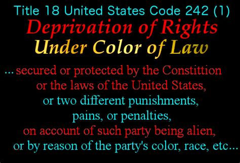 deprivation of rights color of event 4 june 25th 2014 the pre trial hearing right