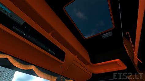 orange interior scania r black orange interior ets 2 mods