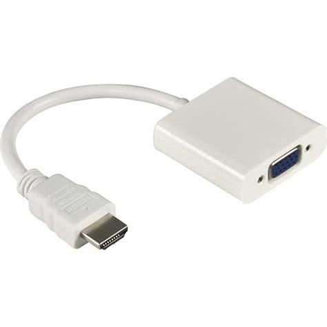 Promo Kabel Hdmi To Vga Converter Vga To Hdmi Cable Original 3m 3 kabel adapter hdmi ke vga hd008 white