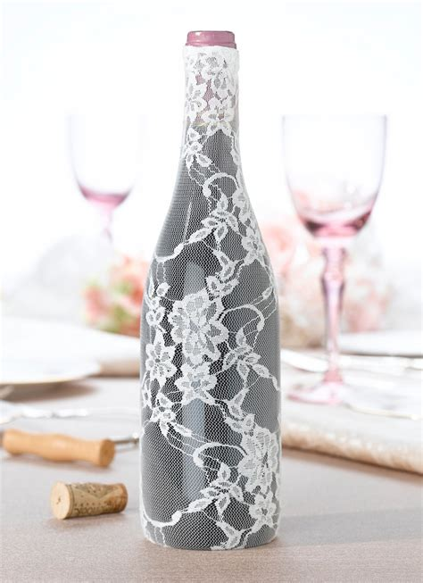 wine bottle decor for your wedding table gems wedding