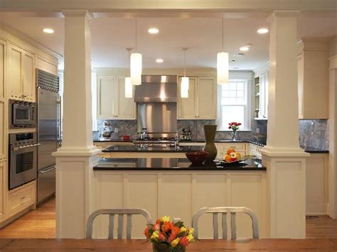 Open Kitchen With Columns by I Would To A Kitchen Like This Well Maybe Not