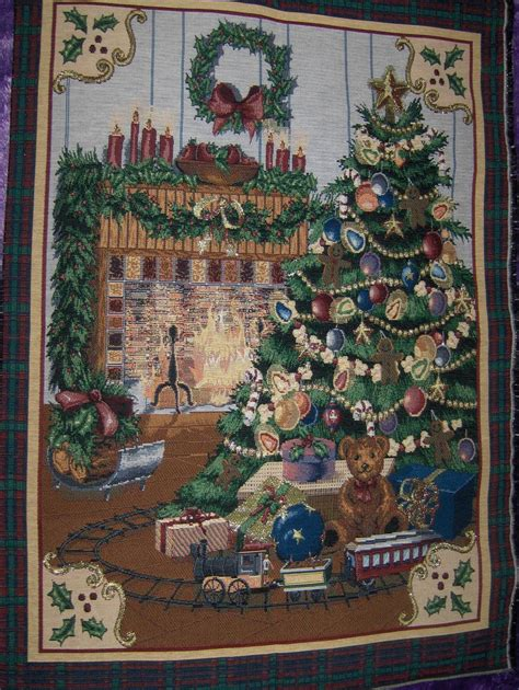 quot home for christmas quot tapestry wall hanging other