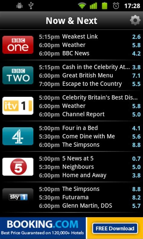 tv listings for android tvguide co uk tv guide uk android apps on play