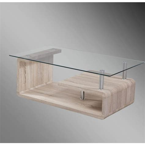 Glass Top Oak Coffee Table Jason Clear Glass Top Coffee Table With Sonoma Oak Base Buy Glass Coffee Table Furniture In