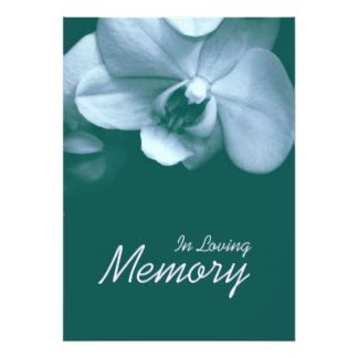 Funeral Invitations Announcements Zazzle In Loving Memory Template Free
