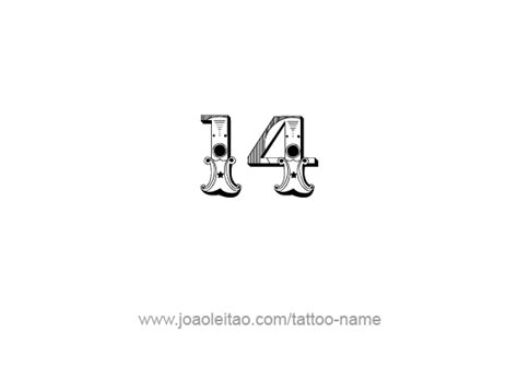 fourteen 14 number tattoo designs tattoos with names